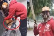 Bicitaxista amenaza con machete