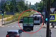 Choque de camión con autobús