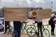 Ciclistas protestan en Bogotá