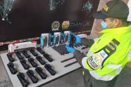 Incautación partes armas de fuego