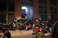 Protestas de recicladores en el norte de Bogotá
