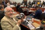 Germán Navas Talero, representante a la cámara por el Polo Democrático en cacerolazo
