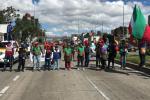 Indígenas bloquean la Avenida NQS