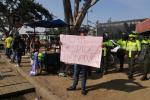Protesta en calle 13