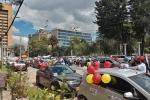 Caravana de protesta en la capital