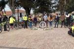 Acto de rechazo al atropellamiento de ciclistas en Bogotá