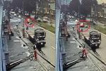 Policía atropellado en Centro Mayor