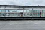 Estación de Transmilenio dañada