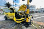 Taxista accidentado