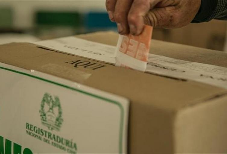 Votación Registraduría Nacional.