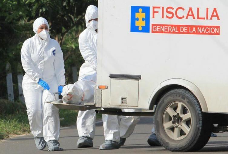 La Fiscalía General de la Nación para realizar la diligencia de inspección y traslado del cadáver a las instalaciones del instituto de Medicina Legal.