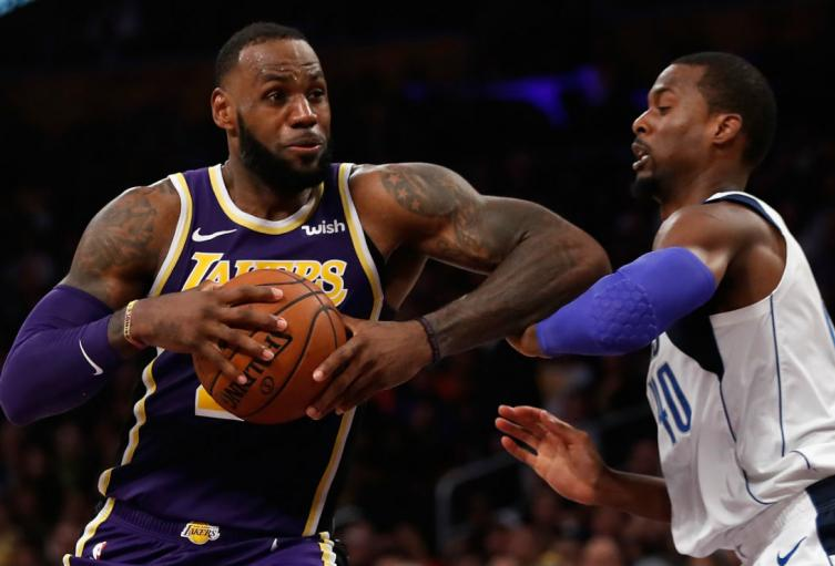 LeBron James, jugador de L.A. Lakers