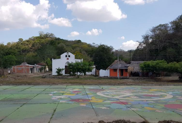 Esta es la cancha principal del pueblo, que hace parte de la región de Los Montes de María