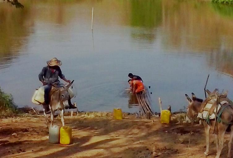 Las comunidades rurales son las que más padecen por falta de agua