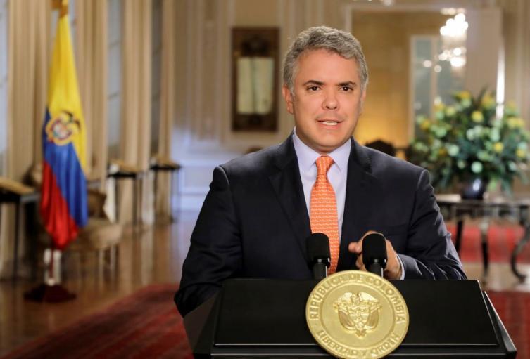 Presidente Iván Duque, en la Casa de Nariño
