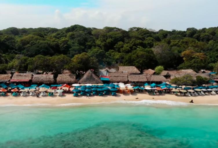 Playa Blanca, en la Isla de Barú, en Cartagena