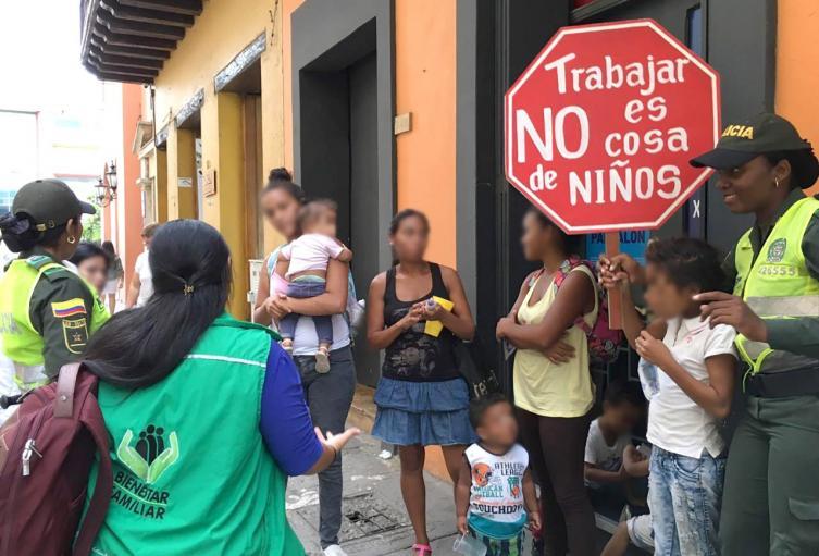 Bebé utilizada para mendicidad en Cartagena