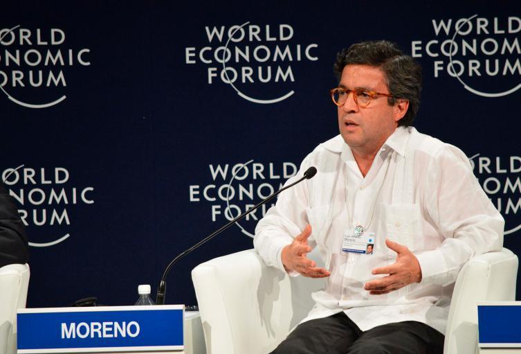 Luis Alberto Moreno, presidente del Banco Interamericano de Desarrollo (BID), el 7 de mayo de 2015 en Cancún (México)