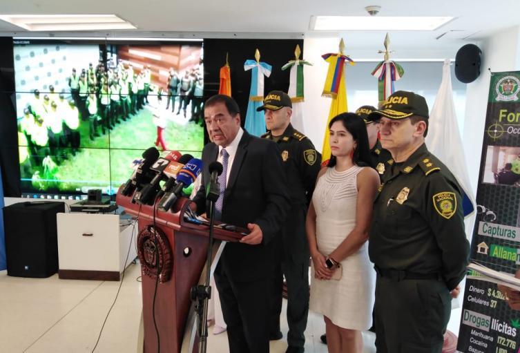 Fiscal (e.) Fabio Espitia, en declaraciones luego de operativos en el país.