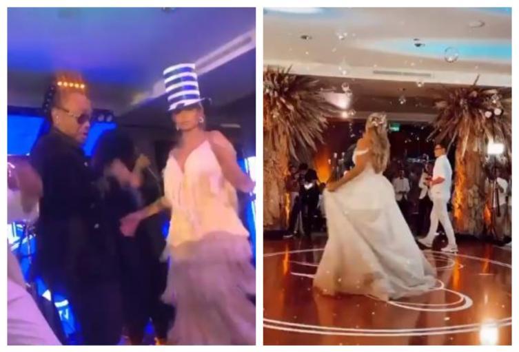 Melissa Martínez y Matías Mier en su fiesta de boda