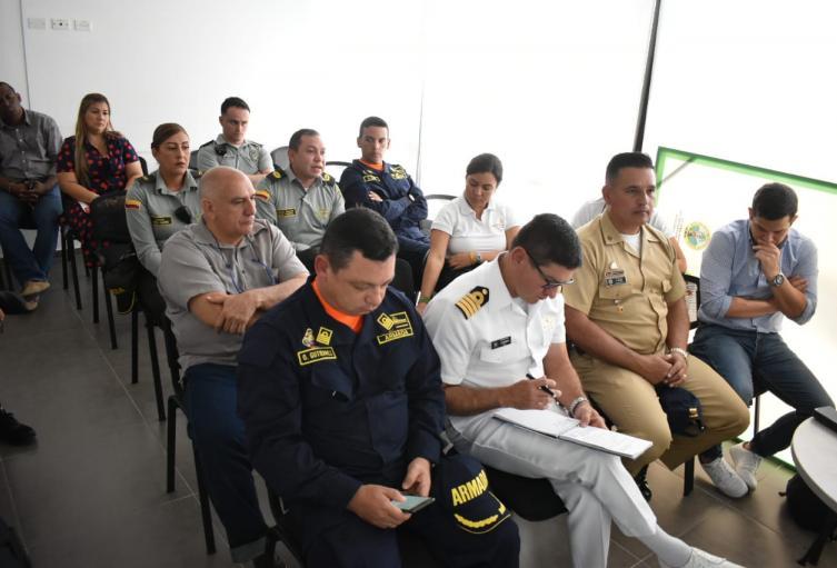 Autoridades zona insular de Cartagena