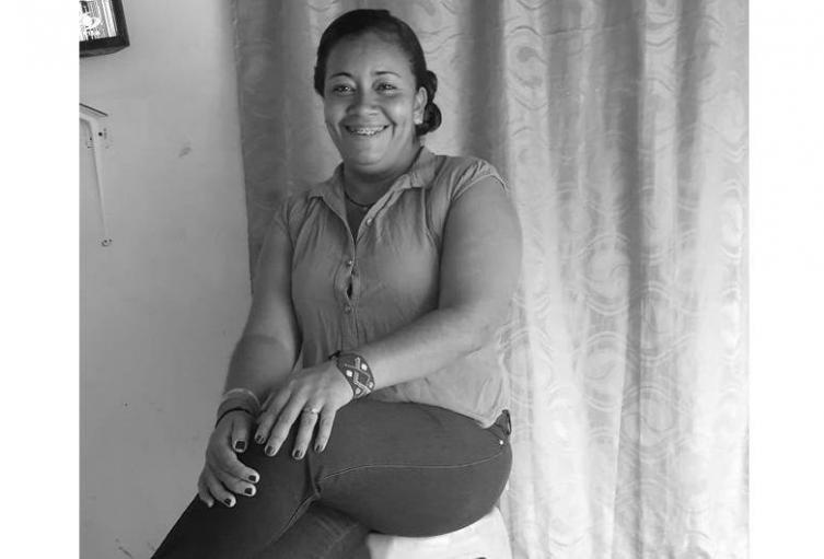 Ella es Yirley Velasco Garrido, líder social amenazada del corregimiento de El Salado, Carmen de Bolívar.