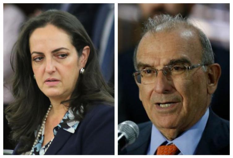 Maria Fernanda Cabal y Humberto de la Calle