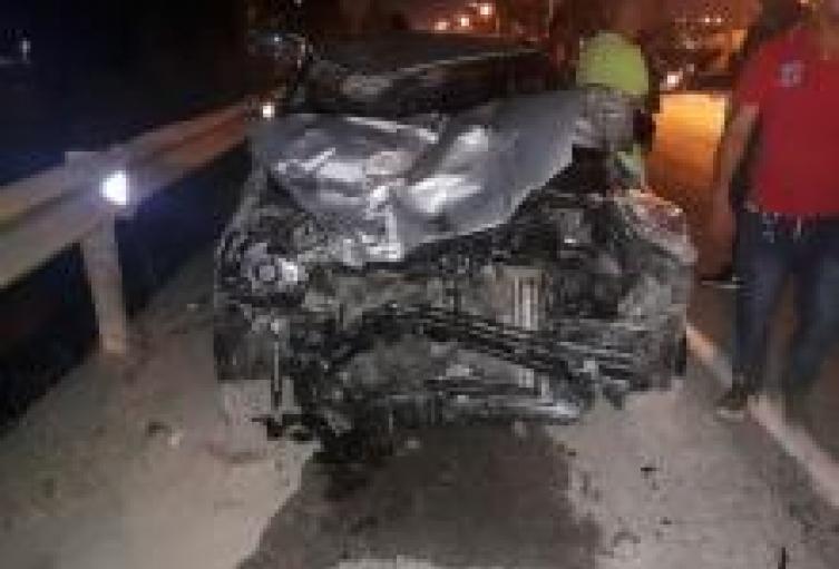 Así quedó el vehículo involucrado en este accidente