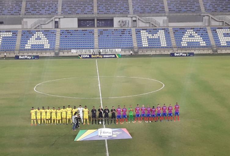 Unión Magdalena 3 - Bogotá 0 por Copa Betplay en Santa Marta