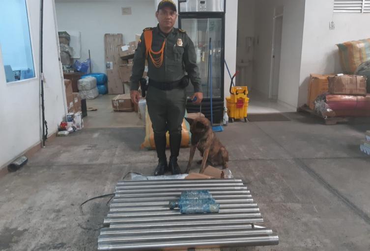 El operativo se llevó a cabo en  una bodega en Montería