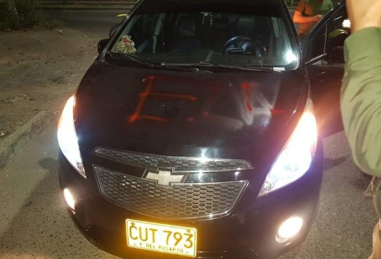 Vehículo marcado por el Eln en Cúcuta