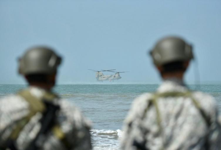 Las actividades se vienen adelantando cerca al Batallón militar ubicado en Manzanillo del Mar.
