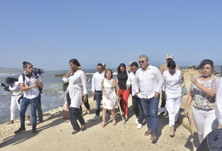 Presidente Duque obras muelle Puerto Colombia