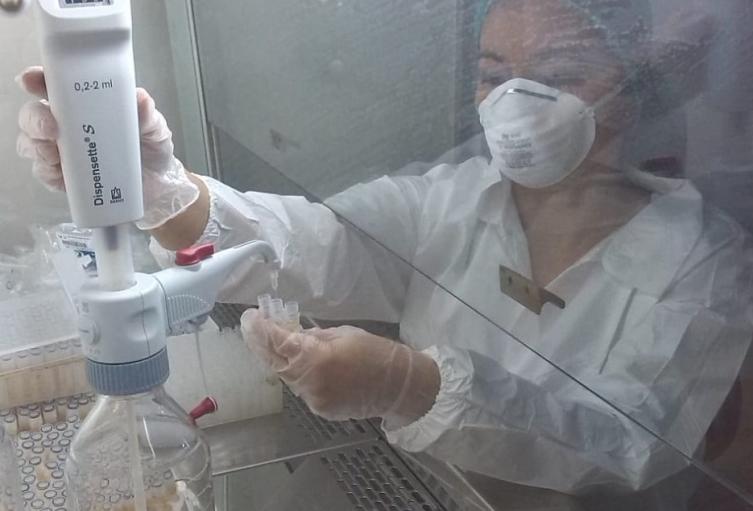 Laboratorio para pruebas de Covid-19