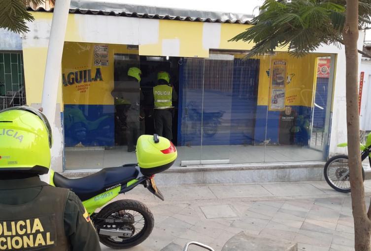 Billar, Santa Marta, Policia, Cuarentena