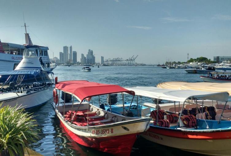 Este es el sitio autorizado para el zarpe de embarcaciones hacia la zona insular de Cartagena.