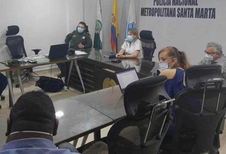 Cuarentena, Santa Marta, Policia Metropolitana