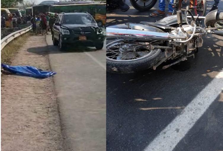 La camioneta los impactó en el rompoy en cercanía a la entrada del barrio Colombiatón
