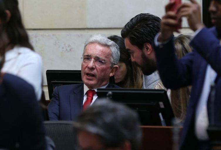 Álvaro Uribe en el Congreso de la República