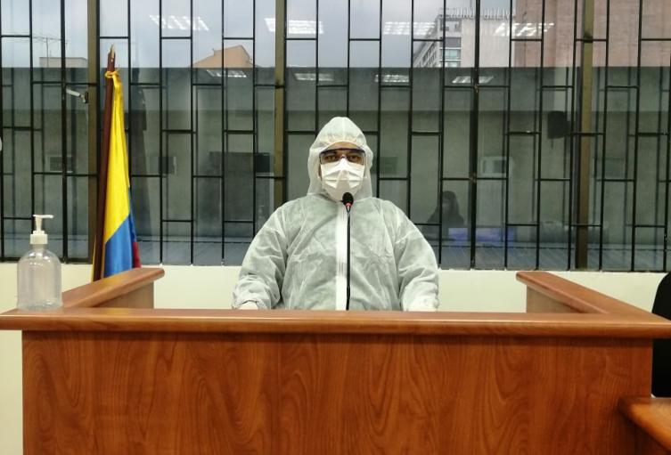 Jueces de Paloquemao en prevención por el coronavirus
