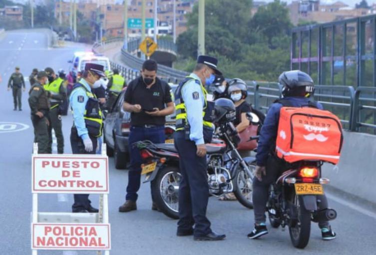 Puesto de control de la policía