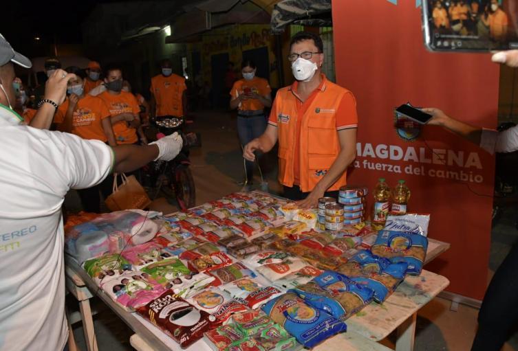 Mercados solidarios, Magdalena, Covid - 19, Carlos Caicedo
