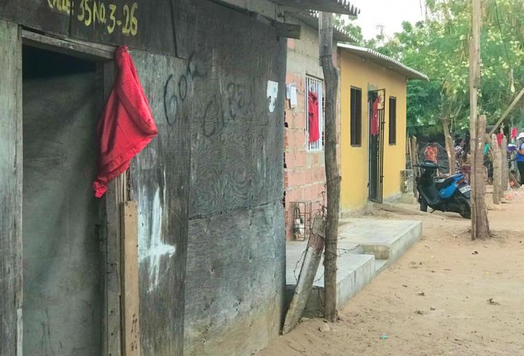 Fachadas de viviendas en Riohacha
