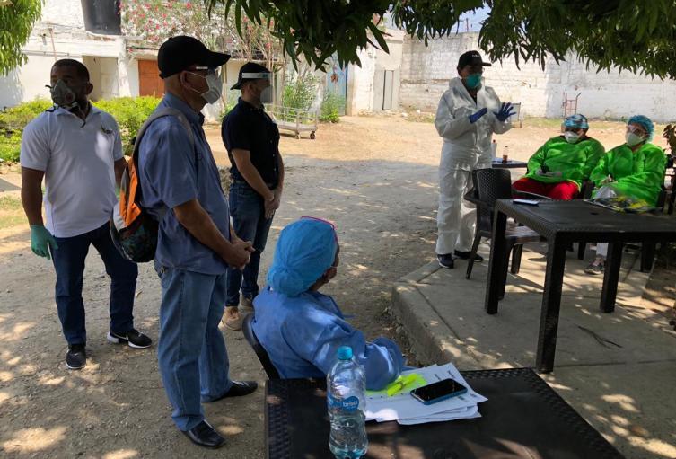 19 internos de la cárcel de hombre en Cartagena, dieron positivo para covid-19
