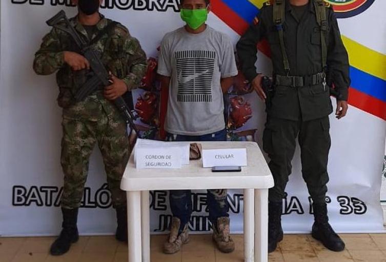 La captura se llevó a cabo en Planeta Rica