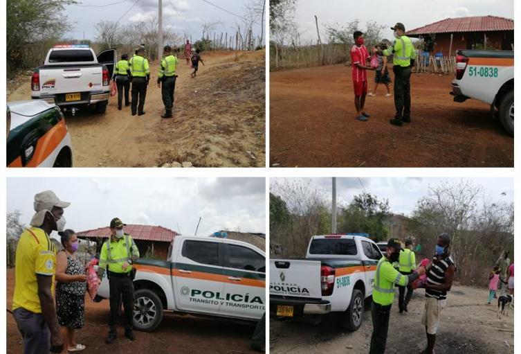 Los uniformados con recursos propios lograron llevar las ayudas