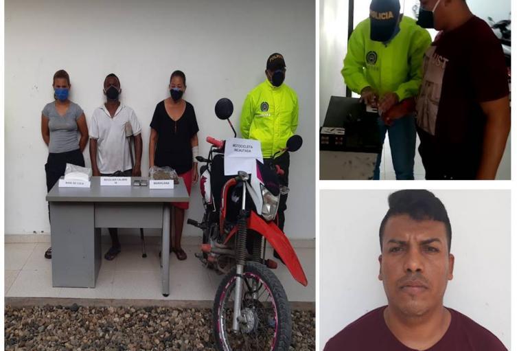 La Policía de Bolívar los capturó a raíz de denuncias hechas por la misma comunidad
