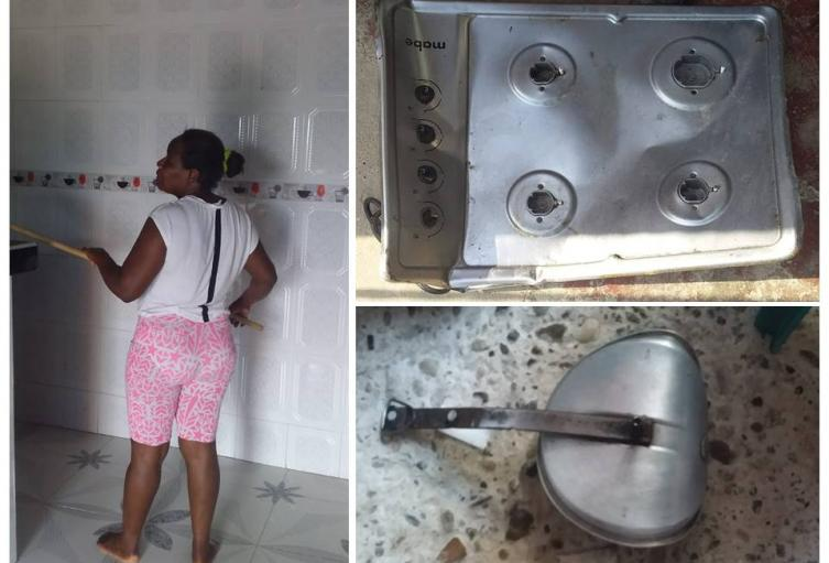 La olla destrozó la estufa y dañó también varios electrodomésticos