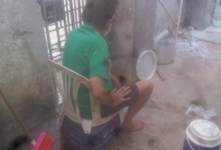 en video hicieron publica la manera como se encontraban los dos afectados de COVID19 en el centro penitenciario