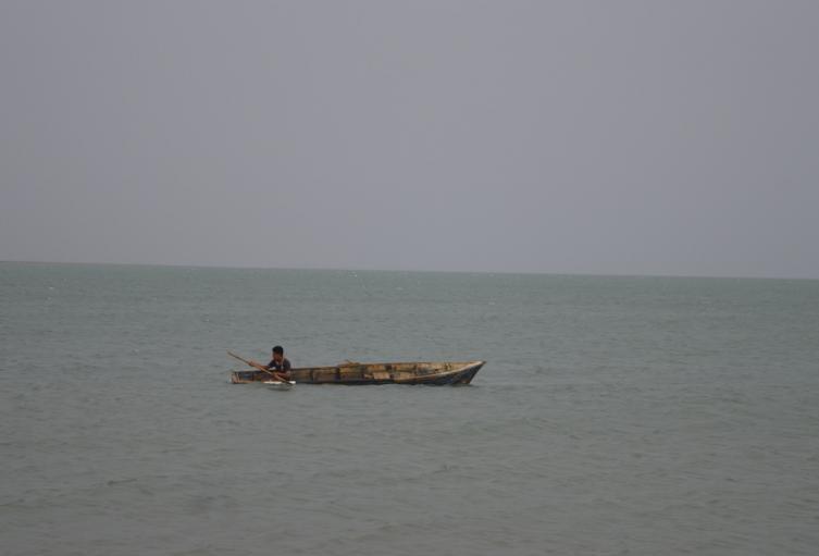 Pescador artesanal en La Guajira